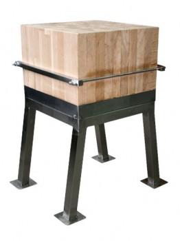 Колода для рубки мяса, 600х600 мм. - Поставка профессионального оборудования и продуктов питания для ресторанов, кафе, баров | HoReCaMart.ru | Екатеринбург
