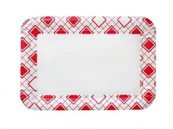 Бумажная тарелка прямоугольная, 140х210 мм. х 500 шт. - Поставка профессионального оборудования и продуктов питания для ресторанов, кафе, баров | HoReCaMart.ru | Екатеринбург